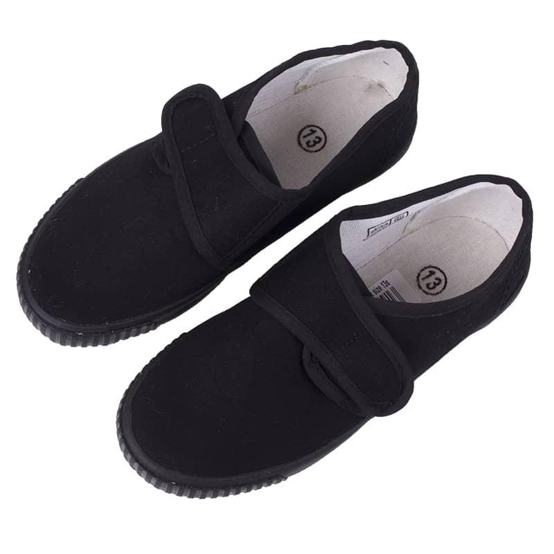 Black Velcro Plimsolls